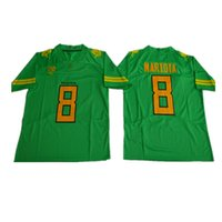 ingrosso americano divisa set-NCAA Oregon Ducks Jersey Men # 8 Marcus Mariota nero verde bianco giallo American College Football Jerseys