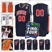 ingrosso numeri marroni-Personalizzato Auburn Basket 2019 Final Four Blu Navy Arancione Bianco Qualsiasi Nome Numero 1 Jared Harper 2 Bryce Brown 5 Chuma Okeke Maglie