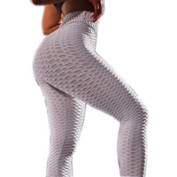 Wholesale womens white yoga pants for sale - Group buy Womens High Waist Textured Leggings Workout Booty Scrunch Yoga Pants Slimming Ruched Tights Breathable Slim Pants