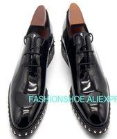 patent brogue ayakkabıları toptan satış-Patent deri Adam El Yapımı Ayakkabı Lace up Moda Yeni 2018 Örgün İş Ayakkabıları Bahar Güz Brogue Derby Hombre Sapatos