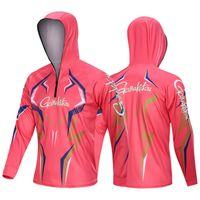 ingrosso escursionismo jersey-2019 New Style Gamakatsu Maglie da pesca Quick Dry Protezione solare Abbigliamento da pesca Camicie Anti-UV Campeggio Escursionismo Abbigliamento Gilet da pesca