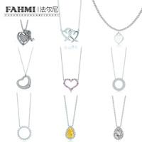 9386e4c603e FAHMI Charm 925 Sterling Silver Love Twinkle Teardrop Inlay Zircon Sun  Necklace Original Women's Fashion Jewelry Memorial Day TIF