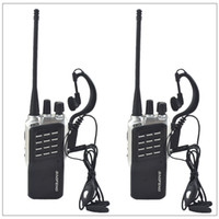 transceptor 3km al por mayor-2 unids / lote Baofeng BF-658 UHF 400-470MHz Radio bidireccional portátil Transceptor Walkie-Talkie Baofeng para jamón, hotel con auricular gratis