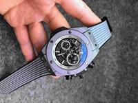 relógio de moda de calendário de silicone de quartzo venda por atacado-2019 moda de luxo dos homens relógio grande calendário de discagem pulseira de silicone esportes ao ar livre marca de relógio de quartzo assistir todos os ponteiros estão em execução