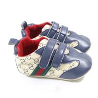 ingrosso le scarpe di marca del marchio prima soft-Baby First Walkers Neonati Scarpe Suola morbida Unisex Le mie prime scarpe per bebè Designer Brand Shoes for Baby 0-12M Idee regalo