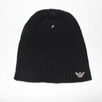Wholesale crochet cowboy hats resale online - Knitted Hat Designer Champion Winter Warm Thick Beanie Fedora gorro Bonnet Skull Hats for Men women Crochet Skiing