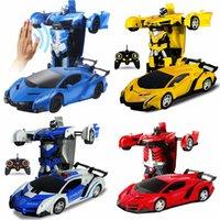 robô motor rc venda por atacado-Robô de transformação do carro rc modelo de veículo esportivo robôs brinquedos deformação legal car kids toys presentes para meninos