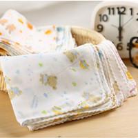 Wholesale towel teddy bear for sale - Group buy 10PCS Baby Feeding Towel Teddy Bear Bunny Dot Chart Printed Children Small Handkerchief Gauze s Nursing YYT308 SH190916
