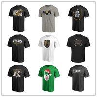 impresión uniforme del logotipo al por mayor-Camisetas de los hombres de Las Vegas Golden Knights Hockey Camisetas de marca Moda negra Camiseta deportiva al aire libre Uniforme de manga corta Camisas impresas Logotipos