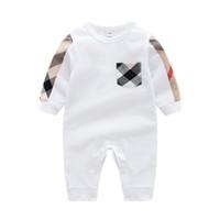 bonito, roupas, recém-nascido, bebê, menino venda por atacado-Hot bebê meninas meninos roupas bonito Dos Desenhos Animados do bebê romper algodão de alta qualidade de uma peça Macacão roupa da menina do bebê recém-nascido