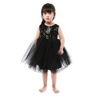 Wholesale wedding dresses 5pcs for sale - Baby Girls Summer Sleeveless Sequin Chiffon Dress For Party Or Wedding Four Colors Pettiskirt