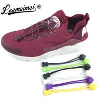 dantel ayakkabıları kilitler toptan satış-Yeni Komik Gadgets Uygun Kilit Renkli Elastik hiçbir lacci Silikon Ayakkabı Bağcığı Tembel Ayakkabı Danteller spor Sneaker