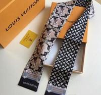 dessins de cou de bande achat en gros de-foulard en soie de mode pour femmes beau mélange conception filles foulard bande de sac de cheveux poignée enveloppe petite écharpes
