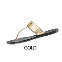 Wholesale slippers box resale online - Women mens slides flip flops Leather Women sandal with Double Metal Black White Brown slippers Summer Beach Sandals with BOX