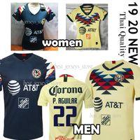 kulüp forması toptan satış-Thail 2019 LIGA MX Club Amerika futbol Formaları 19/20 Amerika takımı 10 C.DOMINGUEZ 24 O.PERALTA P.AGUILAR Futbol forması üniforma