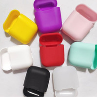 Wholesale thinnest iphone silicone case online – custom 100pcs For Apple Airpods Cases Silicone Soft Ultra Thin Protector Airpod Cover Earpod Case Anti drop With Hook Retail Box DHL Shipping