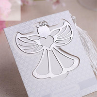 Wholesale guest gift for baby shower resale online - 20pcs Party Supplies Angel Bookmark for Baptism Baby Shower Souvenirs Wedding Favors and Gifts for Guest