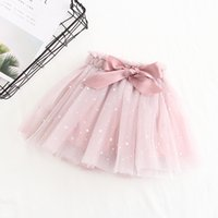 Wholesale princess clothing color matching for sale - Group buy baby girl clothing all match Skirt Palliete Moon Star Design Princess skirts cute girl solid color skirt