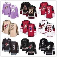 ingrosso pullover di hockey di moda-Personalizzato Arizona Coyotes Jersey 23 Oliver Ekman-Larsson 32 Raanta 9 Keller 35 Kuemper 18 Christian Dvorak 81 Kessel USA bandierina di modo di hockey