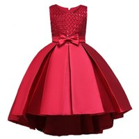 Princess Party Dress for Girls Wedding Lace Flower Girl Dress Kids Birthday New Years Clothes 3 4 5 6 7 8 9 10 11 12 13 14 YearsMX190912