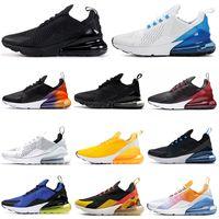 zapatos deportivos de tacón al por mayor-Nike Air Max 270 airmax FLORAL Zapatillas de running para mujer Hombre Zapatos SE Triple Negro Blanco RAINBOW HEEL Mens Trainer Sport Sneakers 36-45