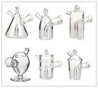 ingrosso pulizia bong-Yimi Glass Portable Mini Size Oil Rig Marziano Bubbler Glass Pipa Blunt Bubbler Clean Glass Bong