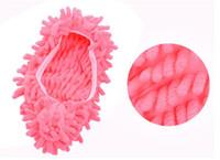 staubmopps groihandel-Hot Home Staubreiniger Weiden Hausschuhe Badezimmer Bodenreinigung Mopp Reiniger Slipper Faule Schuhe Abdeckung Mikrofaser Duster Tuch