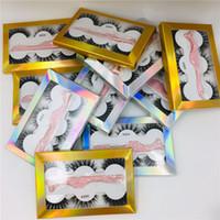 Wholesale lashes mix for sale - Group buy New Pairs Set Mix Style False Eyelashes Fake d Mink Eyelashes Natural Eyelash Extension with Eyelash Tweezer Applicator Makeup Tool