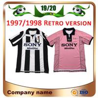 31bcb6ff734 Wholesale retro soccer jerseys resale online - 97 Retro version RONALDO Soccer  Jersey DEL PIERO INZAGHI