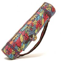 Wholesale horse canvas prints resale online - FLAME HORSE Yoga Mat Bag Sports Backpack Fitness Gym Shoulder Bag Pilates Pad Printing Bags Waterproof Adjustable Drum