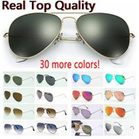 Wholesale case red color resale online - designer sunglasses top quality aviation pilot sun glasses for men women with black or brown leather case cloth and retail accessories