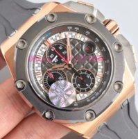 reloj de titanio para hombres al por mayor-El 26568 de silicona de mayor venta con el anillo de titanio de cermet 3126 reloj de lujo (ligero) mecánico automático de los hombres