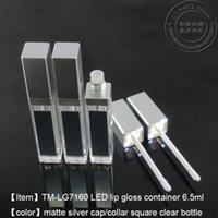 ingrosso bottiglie a specchio-500pcs / lot DHL libera il trasporto contenitore di lucentezza del labbro del LED del contenitore LED della luce con lo specchio su una faccia