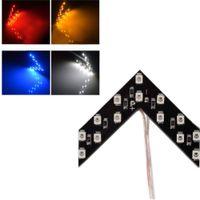 зеркало заднего вида для автомобилей оптовых-Tonewan hot 2 Pcs/lot 14 SMD LED Arrow Panel For Car Rear View Mirror Indicator Turn Signal Light Car LED Rearview mirror light