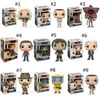 série de bonecas venda por atacado-11 Estilo Funko POP Stranger Things Temporada 3 brinquedos Nova série de TV Onze Demogorgon PVC Modelo bonecas Presentes brinquedos B