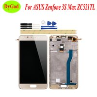 Wholesale mid lcd replacement resale online - 5 inch For ASUS Zenfone S Max ZC521TL LCD Display and Touch Screen Mid Bezel Metal Frame Phone Replacement Parts with Tools