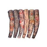 naylon kollu kollar toptan satış-OPP pag 2PC ile Dövme Kol çorap Elastik Sleeve Sürüş Naylon Dövme Kol Açık Kol Kol Güneş Balıkçılık