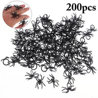 Wholesale black spider ring resale online - 120pcs Halloween Ring Creative Spider Shaped Finger Ring Halloween Party Rings for Kids Children Toys Gifts Party Favors