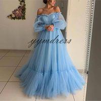 kurze anlässe kleider großhandel-Light Sky Blue Prom Dresses 2019 Sexy Backless A Line Bodenlangen Besondere Anlässe Formelle Abendkleider