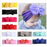 Wholesale new arrival photography props resale online - New Arrival Colors Fashion Children Chiffon Bowknot Hairband Lovely Princess Hairband Hair Accessories Photography Props