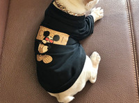 sudaderas perro gato al por mayor-Perro Gato Ropa Marca Tide Teddy Puppy Ropa Suministros para mascotas Otoño Cálido Outwears Sudaderas Con Capucha Impreso Suéter Ropa