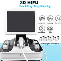 yüz zayıflama makinesi derisi toptan satış-3D HIFU gövdesi ve HIFU zayıflama Yüz Kaldırma Vücut Sıkma taşınabilir Son HIFU Makine Kırışıklık Kaldırma Skin yüz