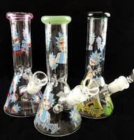 """reciclador de triple cámara bong al por mayor-Nuevos colores vaso vaso de agua tubo de agua tubo de vidrio bong de vidrio 18.8mm altura de junta hembra 8 """"tamaño con tazón"""