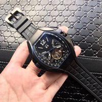 relógio de marca prata venda por atacado-2019 aaa nova prata mens f1 marca de luxo movimento automático relógio big bang homens mecânicos relógios moda esportes relógio de pulso