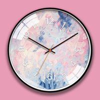 Wholesale clock abstract art resale online - Art Wall Clock Abstract Modern Design Silent Living Room Decoration Kitchen Wall Clock Saati Home Decoration Accessories CH13