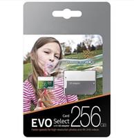fedex grün großhandel-2019 heißer verkaufender grüner EVO wählen Klasse 10 256GB 32GB 64GB 128GB 128GB Karte TF Speicherkarte C10 Flash-Einzelhandelspaket FedEx DHL Express Shipping aus