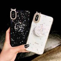 cáscara transparente iphone al por mayor-Vivox23 cáscara del teléfono móvil hembra marea iPhone XS Max cáscara suave transparente A7X estrellado vacío soporte de plástico x9s marca de marea creativo