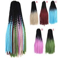extensiones de peluca rizada al por mayor-HAICAR Pelucas para mujeres Pretty Girl Gradient Color Twist Crochet Trenzas Wave Curly Pelucas Extensiones Pelo Sintético de alta calidad