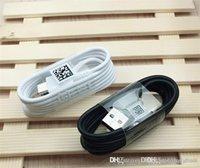 schnelles geflecht großhandel-Schnellladung 1,2 m 4 ft weiß schwarz Typ C Typ C USB-Kabel mit geflochtenen Innenkabeln für Samsung Galaxy S8 S9 S10 plus Note 7 9 LG G5 Neu