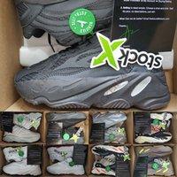 x golf toptan satış-Stokta X Etiketi ile 700 Kanye West Koşu Ayakkabı 700 S Vanta Statik Analog Siyah Yansıtıcı Mens Womens Tasarımcı Spor Sneakers Eğitmenler 36-46